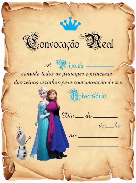 Moldes Para Convites De Aniversario Elegant Festa Frozen Convite Aniversário Pergaminho C 50 R$ 54