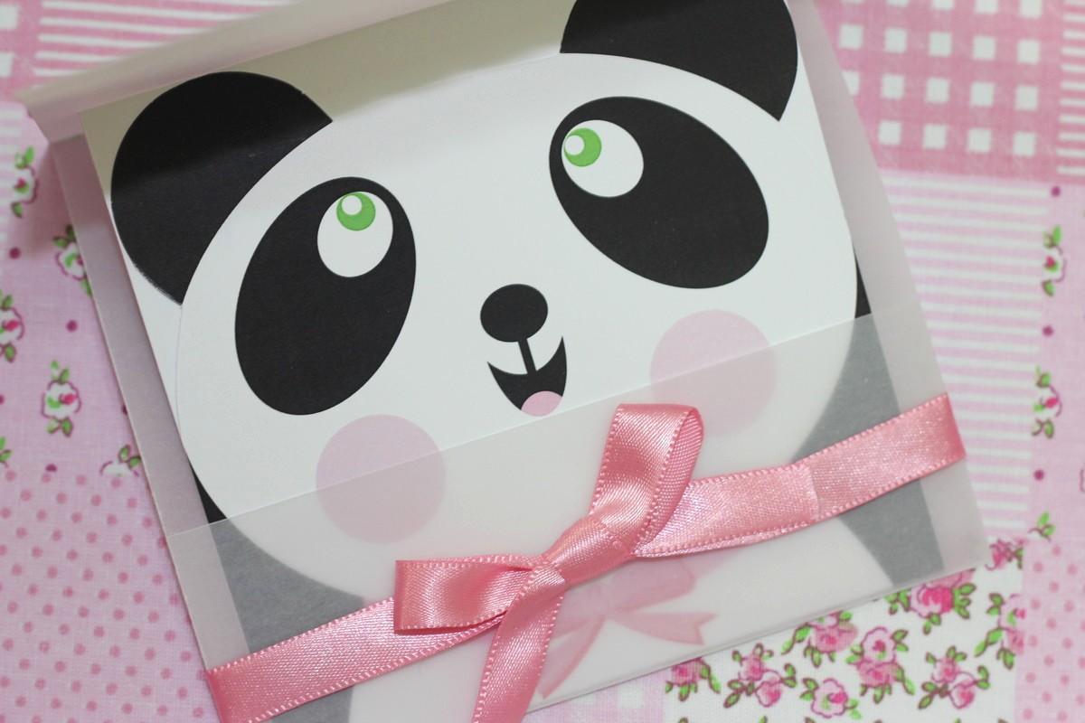 Moldes Para Convites De Aniversario Inspirational Convite Panda No Elo7