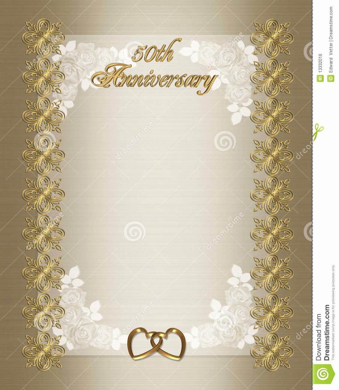 Moldes Para Convites De Aniversario Lovely 50th Molde Do Convite Do Aniversário De Casamento