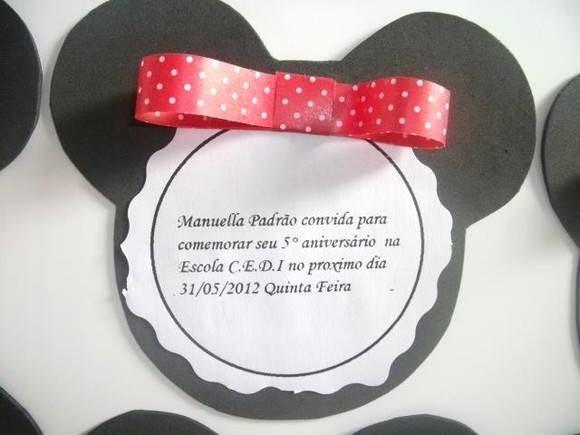 Moldes Para Convites De Aniversario Luxury Convite Em Eva Minnie Mickey No Elo7