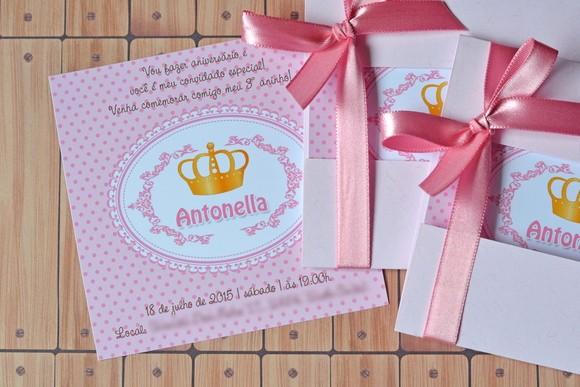 Moldes Para Convites De Aniversario Luxury Convite Realeza Princesa Maria Conviteira