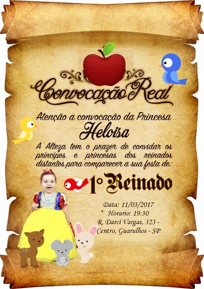 Moldes Para Convites De Aniversario New Convite Pergaminho Branca De Neve No Elo7