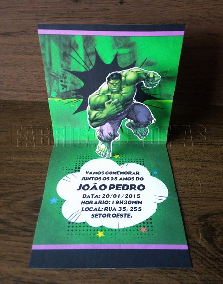 Moldes Para Convites De Aniversario Unique 35 Idéias Para Fazer Uma Festa Infantil Do Hulk