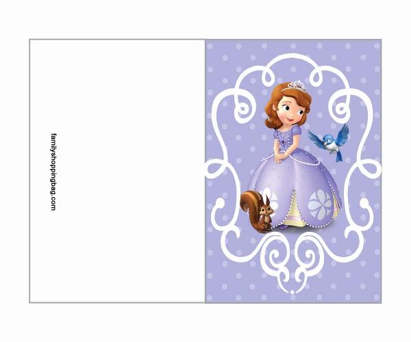 Moldes Para Convites De Aniversario Unique Moldes Para Festa Da Princesa sofia Para Imprimir