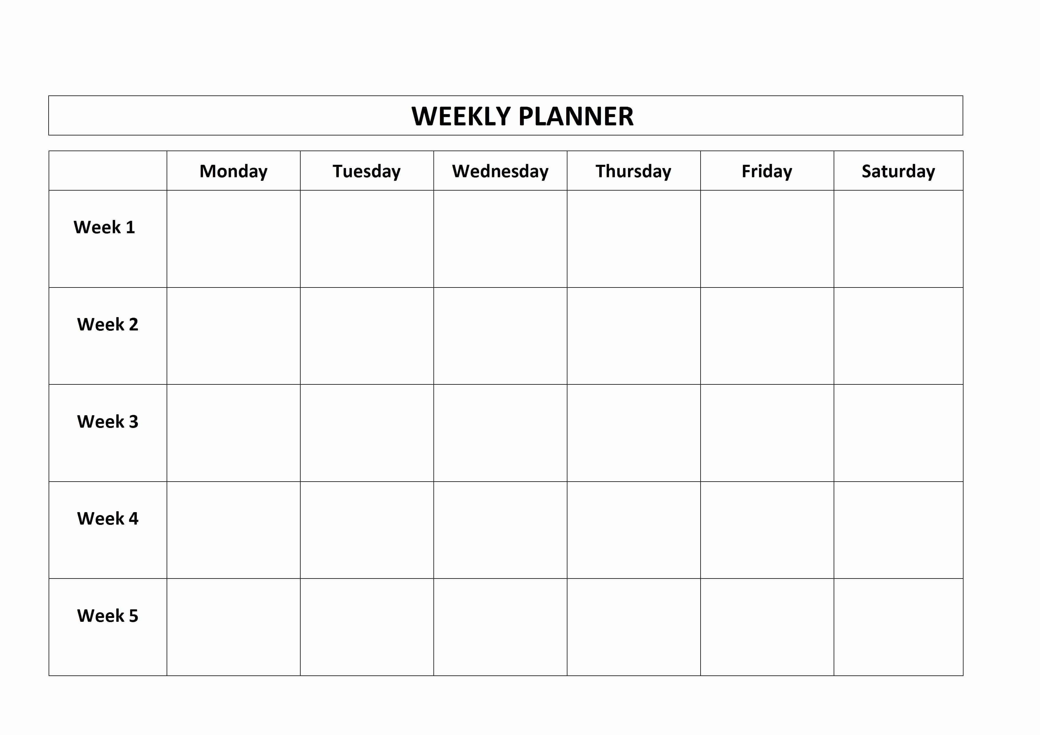 Monday Through Friday Hourly Calendar Beautiful 87 Monday Through Friday Schedule Template Weekly