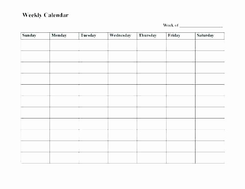 Monday Through Friday Hourly Calendar Beautiful Monday Through Friday Weekly Schedule Template Calendar