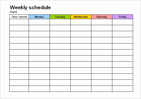 Monday Through Friday Hourly Calendar Inspirational 40 Microsoft Calendar Templates Free Word Excel