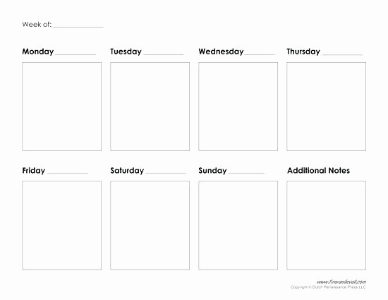 Monday Through Sunday Calendar Template Best Of Monday Through Sunday Calendar Template Time Impression