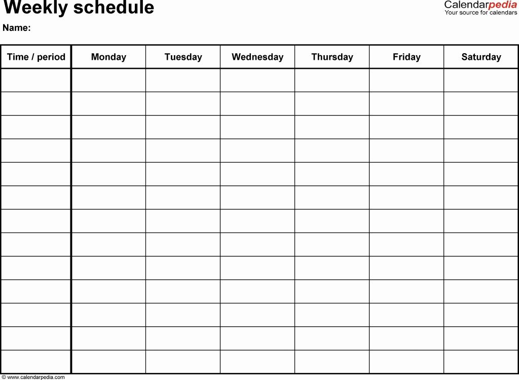 Monday Through Sunday Calendar Template Inspirational Monday Thru Sunday Calendar