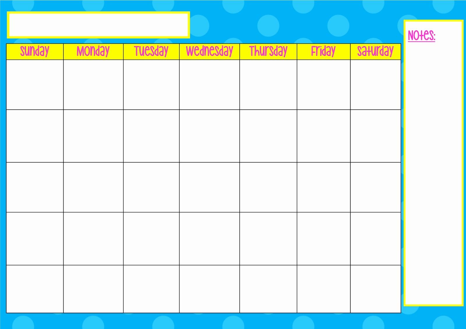 Monday Through Sunday Calendar Template Luxury Monday Through Sunday Calendar
