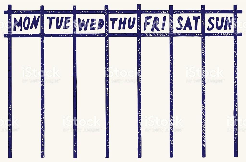 Monday Through Sunday Calendar Template New Monday Through Sunday Calendar