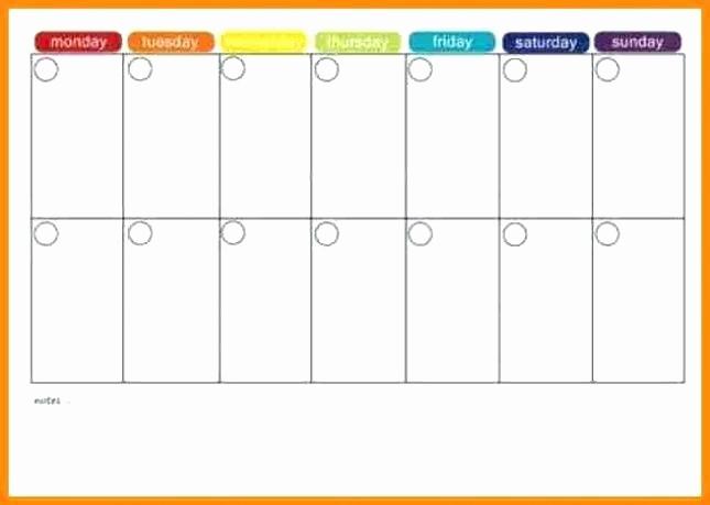 Monday Through Sunday Calendar Template Unique Calendar Template Printable Monday to Sunday 2016