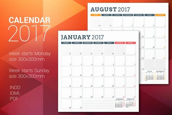 Monday to Sunday Calendar 2017 Awesome Printable Calendar Monthly Monday Through Sunday