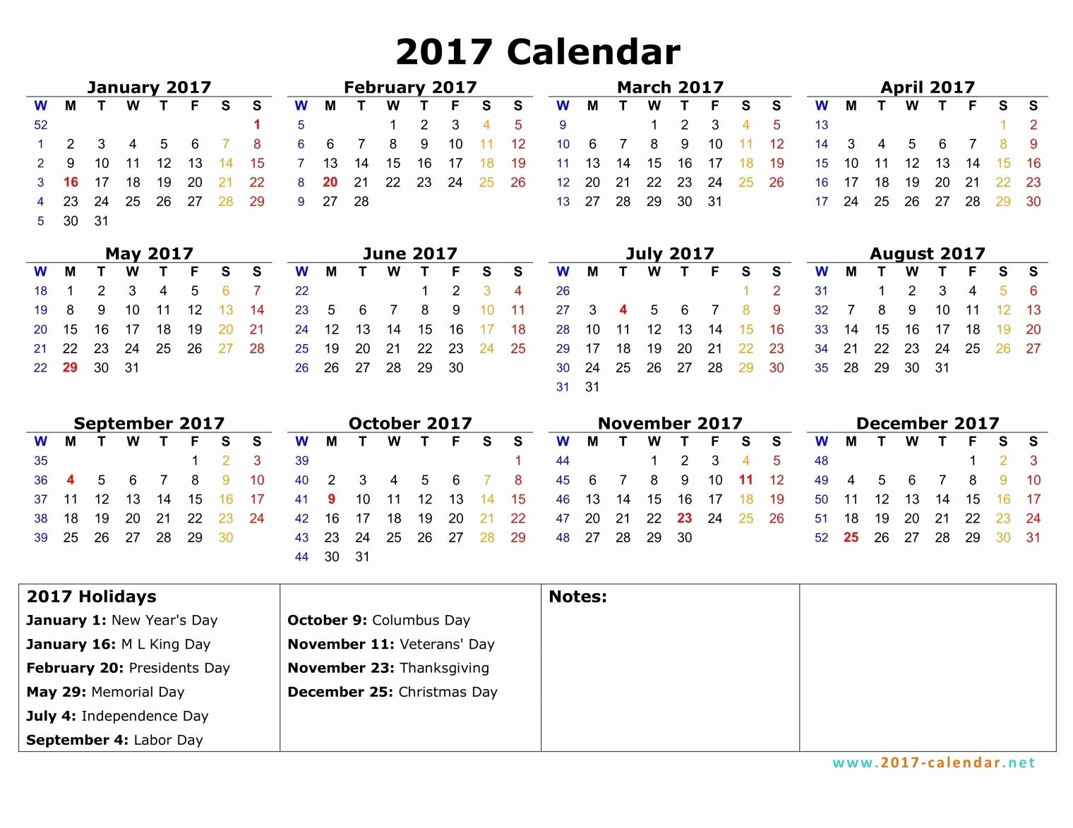 Monday to Sunday Calendar 2017 Elegant 2017 Calendar Monday to Friday