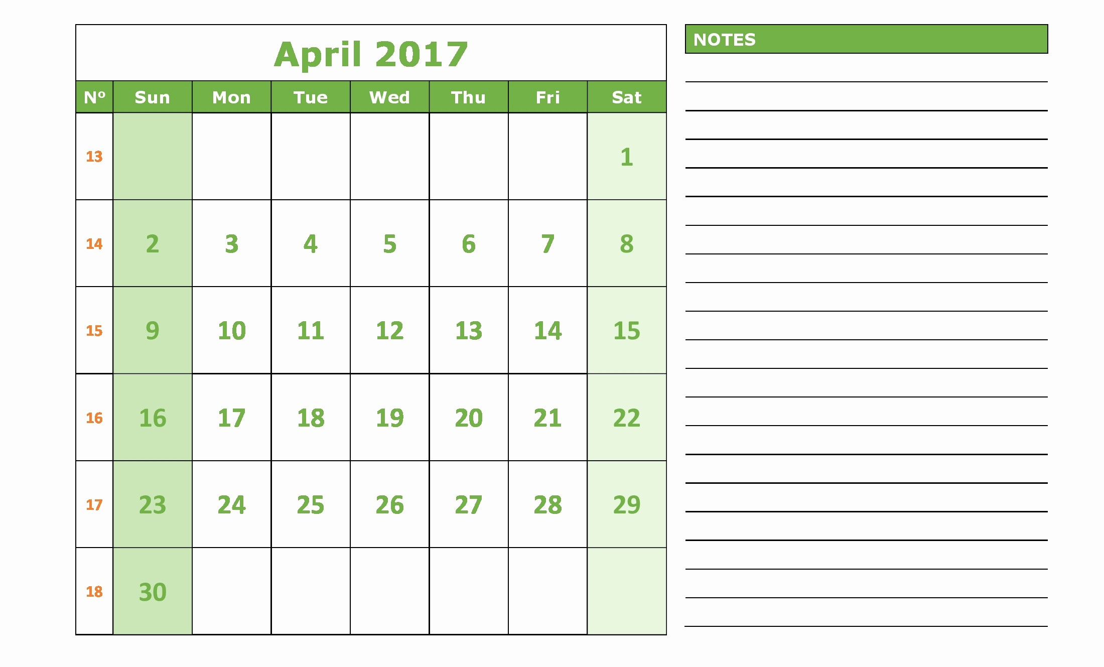 Monday to Sunday Calendar 2017 Fresh April 2017 Calendar Monday to Sunday Calendar and