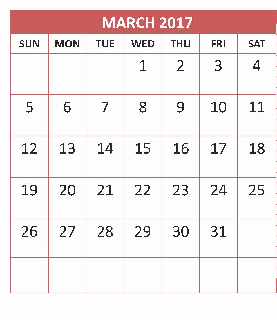 Monday to Sunday Calendar 2017 Fresh March 2017 Calendar Monday to Sunday Calendar and
