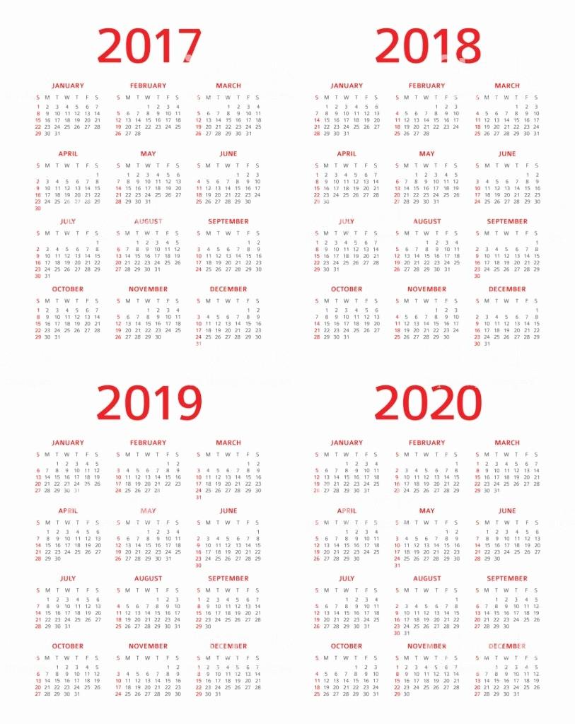 Monday to Sunday Calendar 2017 Inspirational Calendar 2017 2018 2019 2020 Sunday Monday Stock Vector