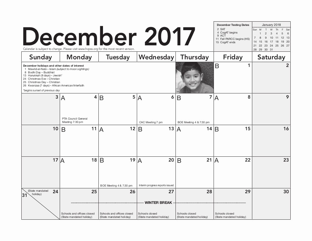 Monday to Sunday Calendar 2017 New December 2017 Sunday Monday Tuesday