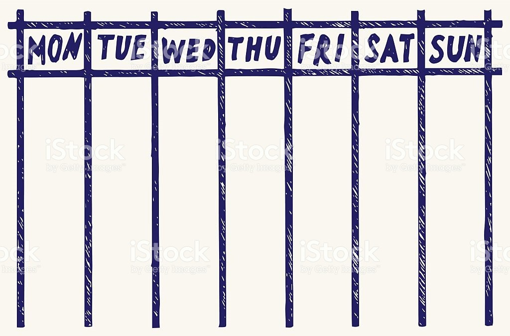Monday to Sunday Calendar Template Elegant Monday Through Sunday Weekly Calendar Template Weekly