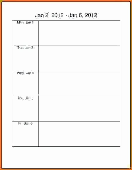 Monday to Sunday Calendar Template Lovely Monday Through Sunday Calendar Template Thru Friday