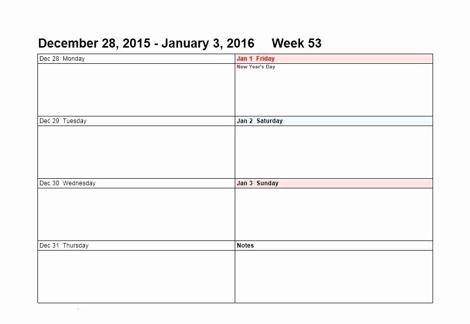 Monday to Sunday Calendar Template Unique Monday Through Sunday Calendar Template Time Impression