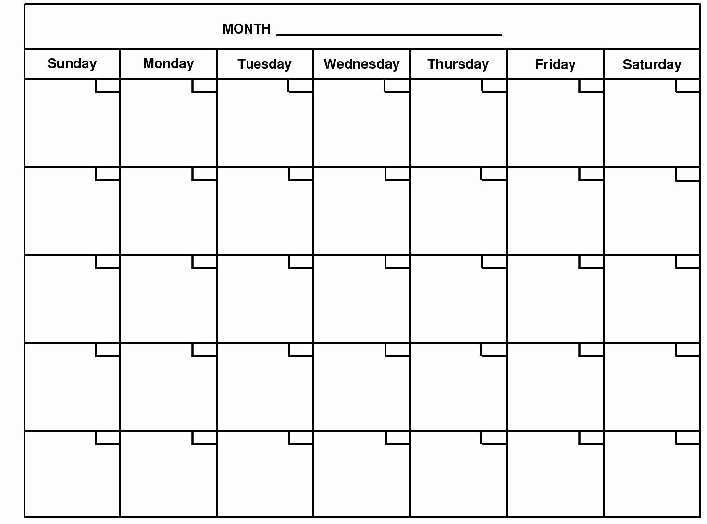 Month by Month Calendar Template Best Of Monthly Calendar – 2017 Printable Calendar