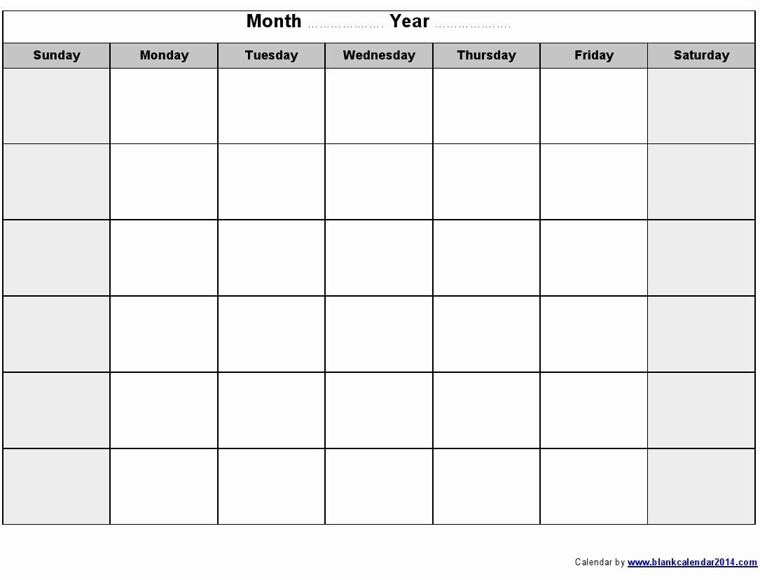 Month by Month Calendar Template Elegant Blank Monthly Calendar – 2017 Printable Calendar