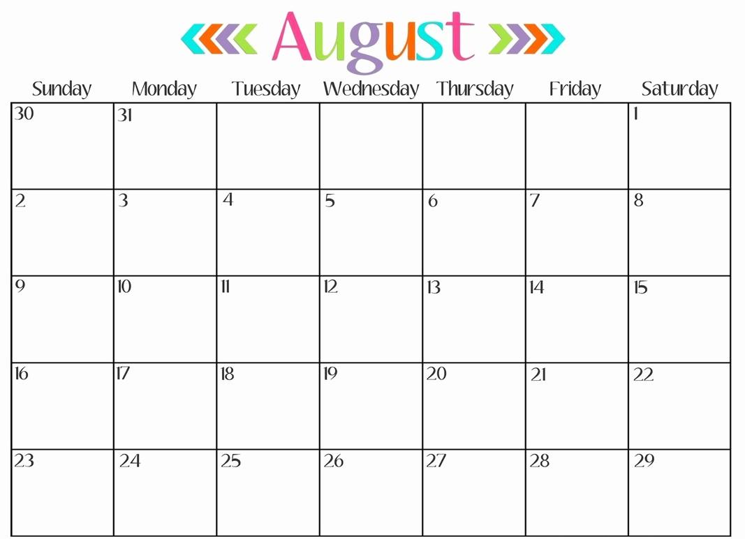 Month by Month Calendar Template Elegant Print Monthly Calendar 2017 Free