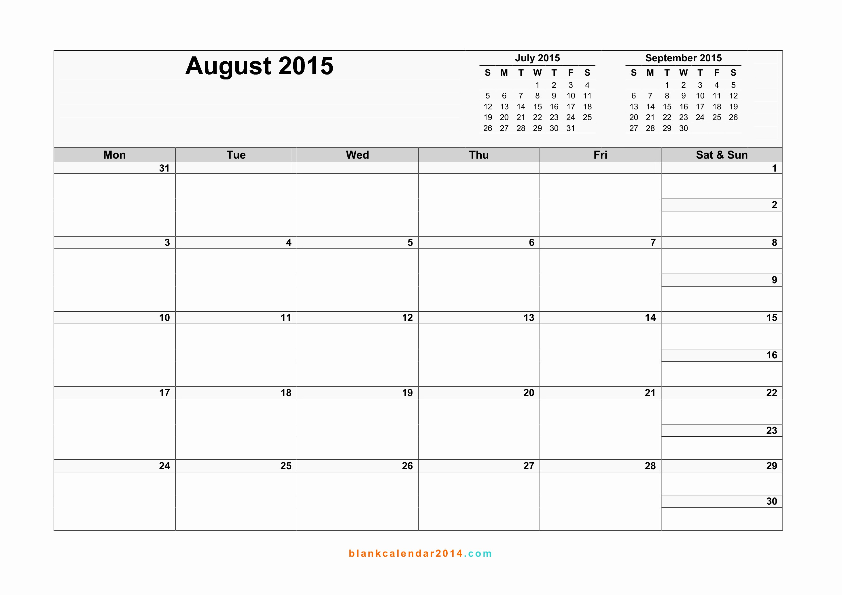 Month by Month Calendar Template Fresh Free Printable 2015 Calendar by Month – 2017 Printable