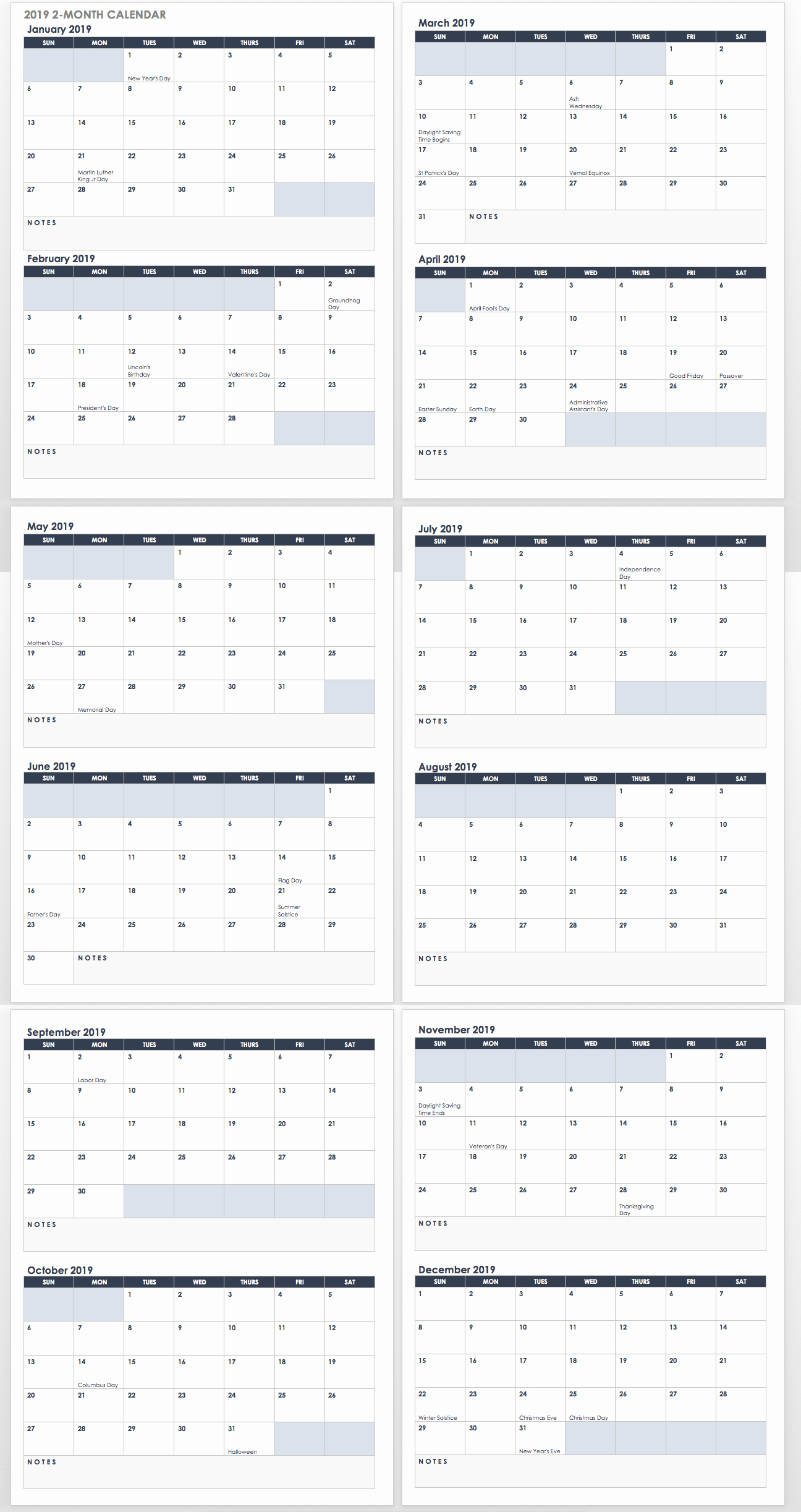 Month by Month Calendar Template Luxury 15 Free Monthly Calendar Templates