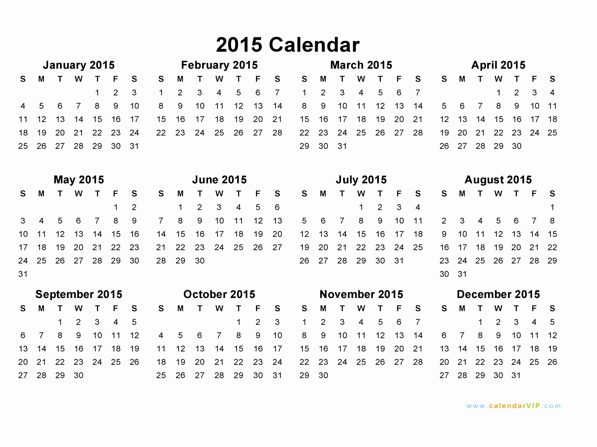 Month by Month Calendar Template New Printable Month Calendar 2015 – 2017 Printable Calendar