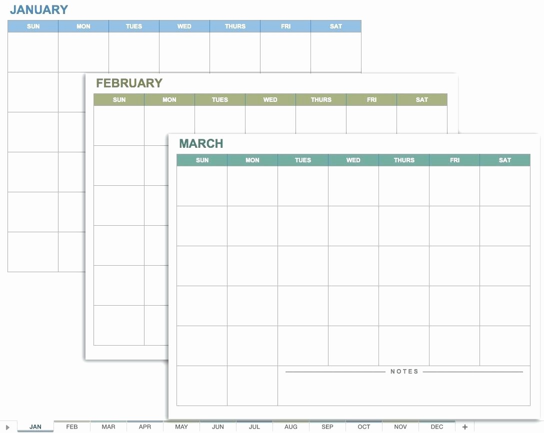 Month by Month Calendar Template Unique 12 Month Calendar Template Excel