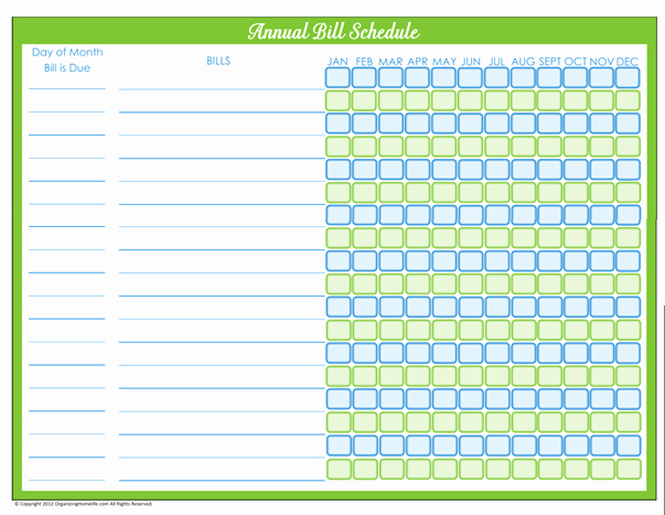 Monthly Bill Due Date Template Awesome 31 Days Of Home Management Binder Printables Day 6