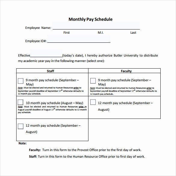 Monthly Bill Due Date Template Inspirational Business Monthly Bill Payment Schedule Template for
