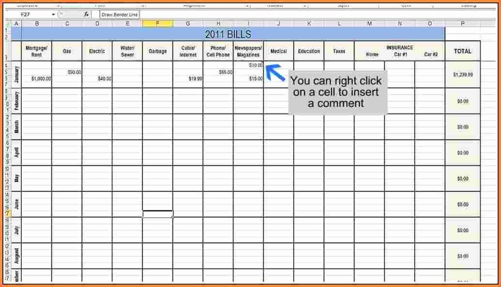 Monthly Bill Tracker Template Free Best Of 11 Bill Tracking Spreadsheet Template