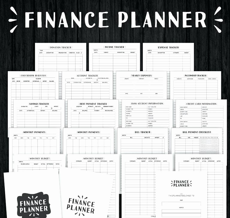 Monthly Bill Tracker Template Free Best Of Bill Planning Template Monthly organizer Free Printable