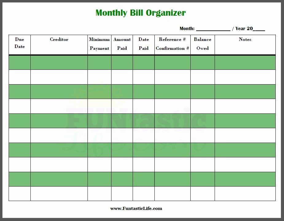 Monthly Bill Tracker Template Free New Excel Monthly Bill Payment Template Monthly Bill