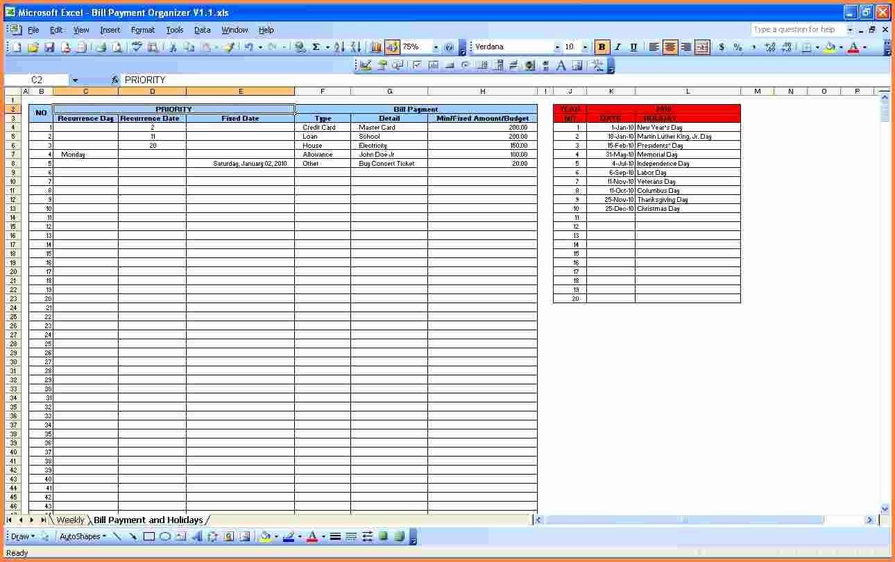 Monthly Bills Spreadsheet Template Excel Awesome 11 Bill Tracking Spreadsheet Template
