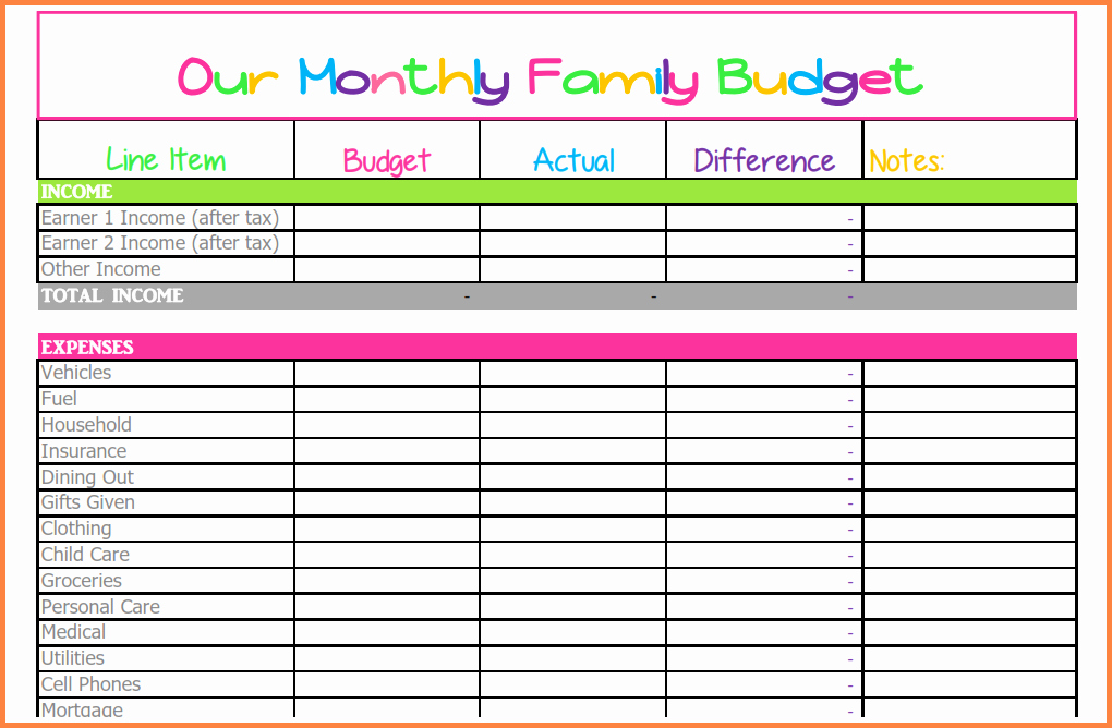Monthly Bills Spreadsheet Template Excel Awesome 5 Monthly Bills Spreadsheet Template