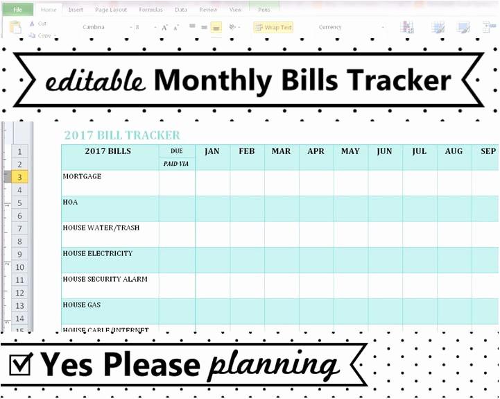 Monthly Bills Spreadsheet Template Excel Awesome Household Bill Tracker Monthly Bills Spreadsheet Bill