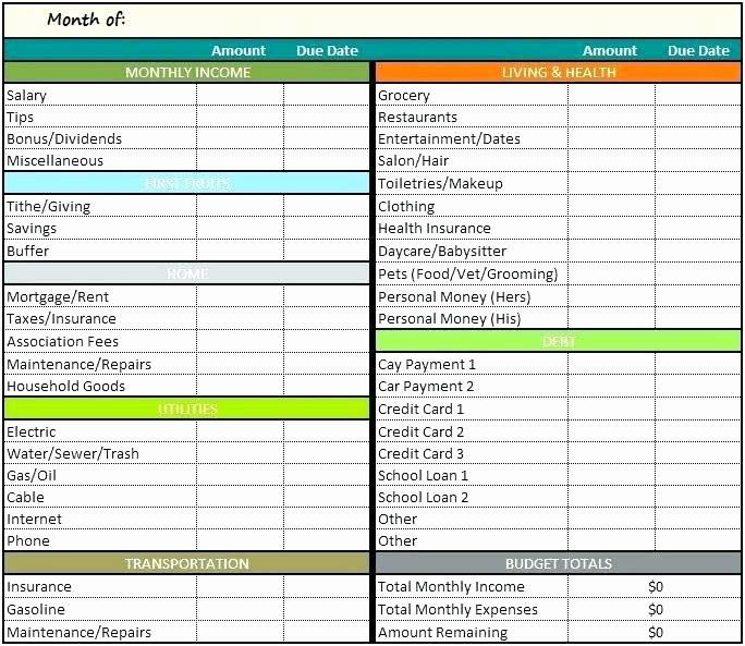 Monthly Bills Spreadsheet Template Excel Fresh Excel Spreadsheet for Bills Monthly Expenses Worksheet