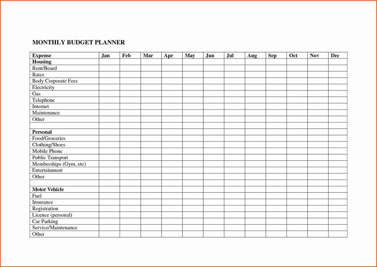 Monthly Bills Spreadsheet Template Excel Fresh Monthly Expenses Spreadsheet Template Free