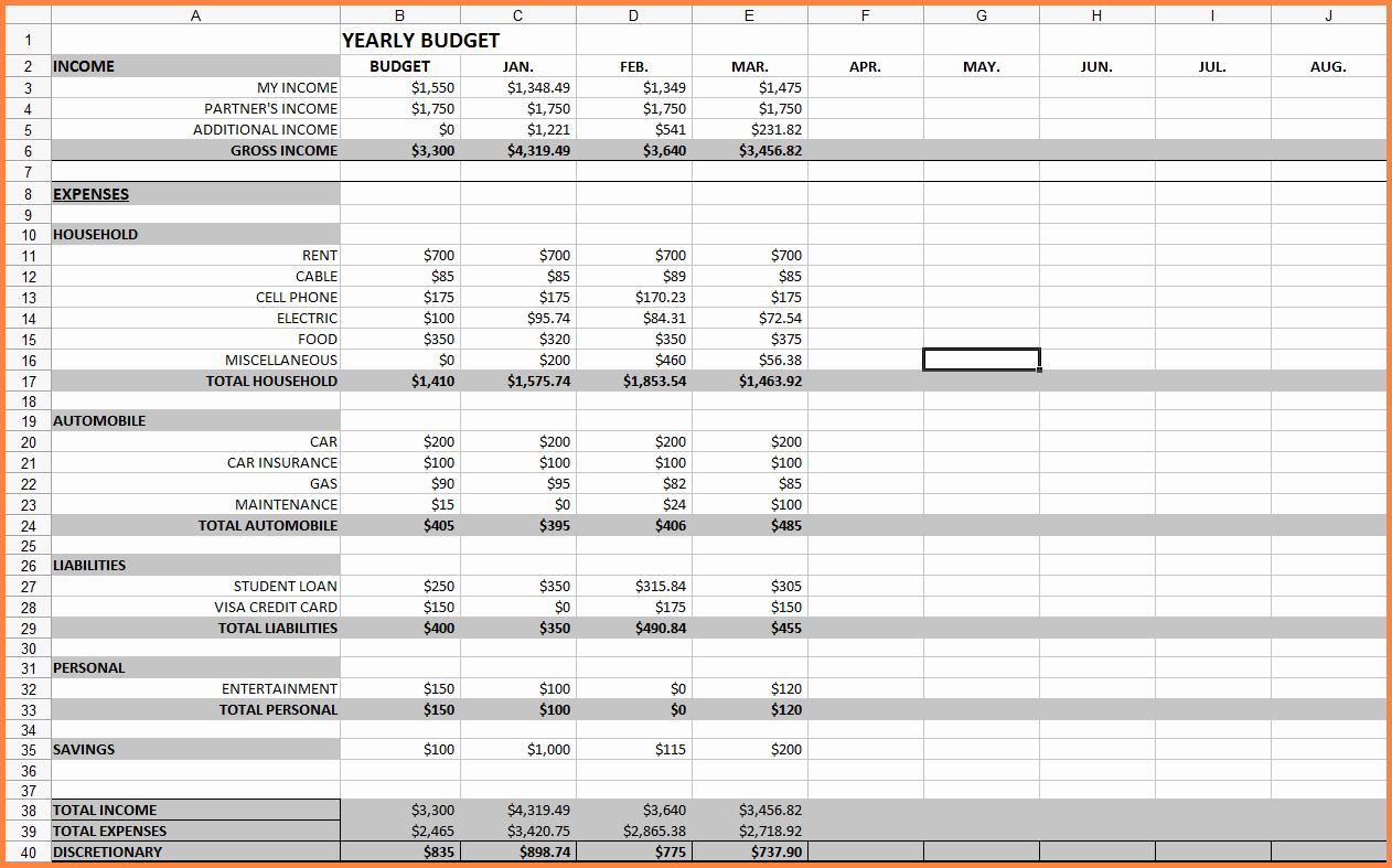 Monthly Bills Spreadsheet Template Excel Lovely 10 Monthly Bill Spreadsheet Template
