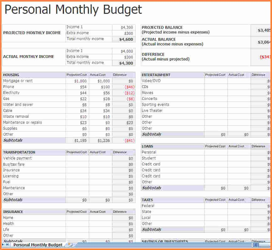 Monthly Bills Spreadsheet Template Excel Luxury 5 Monthly Bills Spreadsheet Template