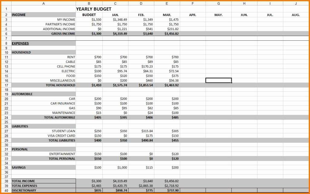 Monthly Bills Spreadsheet Template Excel New Monthly Expenses Spreadsheet Template Monthly Expense