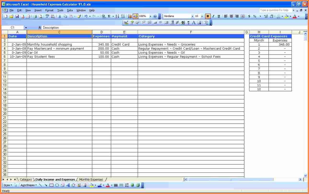 Monthly Bills Spreadsheet Template Excel Unique 4 Excel Spreadsheet for Monthly Expenses