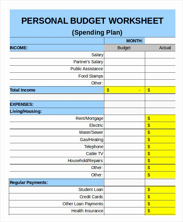 Monthly Budget Example Single Person Inspirational Family Bud Template 9 Free Sample Example format