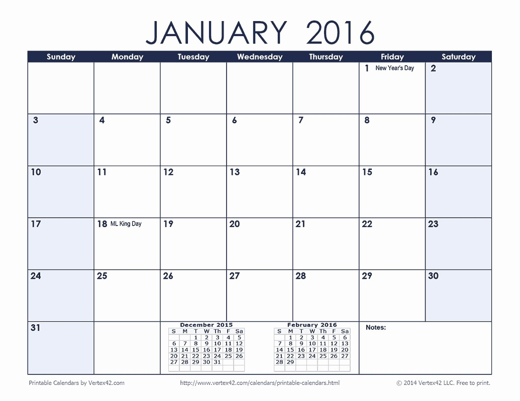 Monthly Calendar 2016 Printable Free Lovely Monthly Calendar 2016 Printable with Note Free Calendar