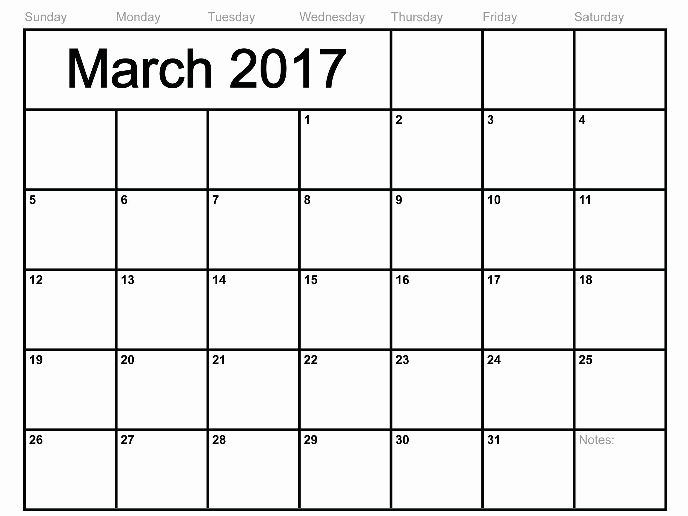 Monthly Calendar 2017 Printable Free Best Of Free Print Calendar 2017