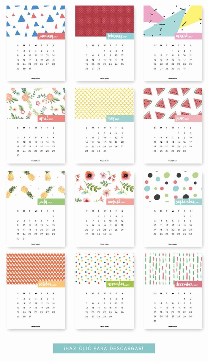Monthly Calendar 2017 Printable Free Inspirational 20 Free Printable Calendars for 2017 Hongkiat